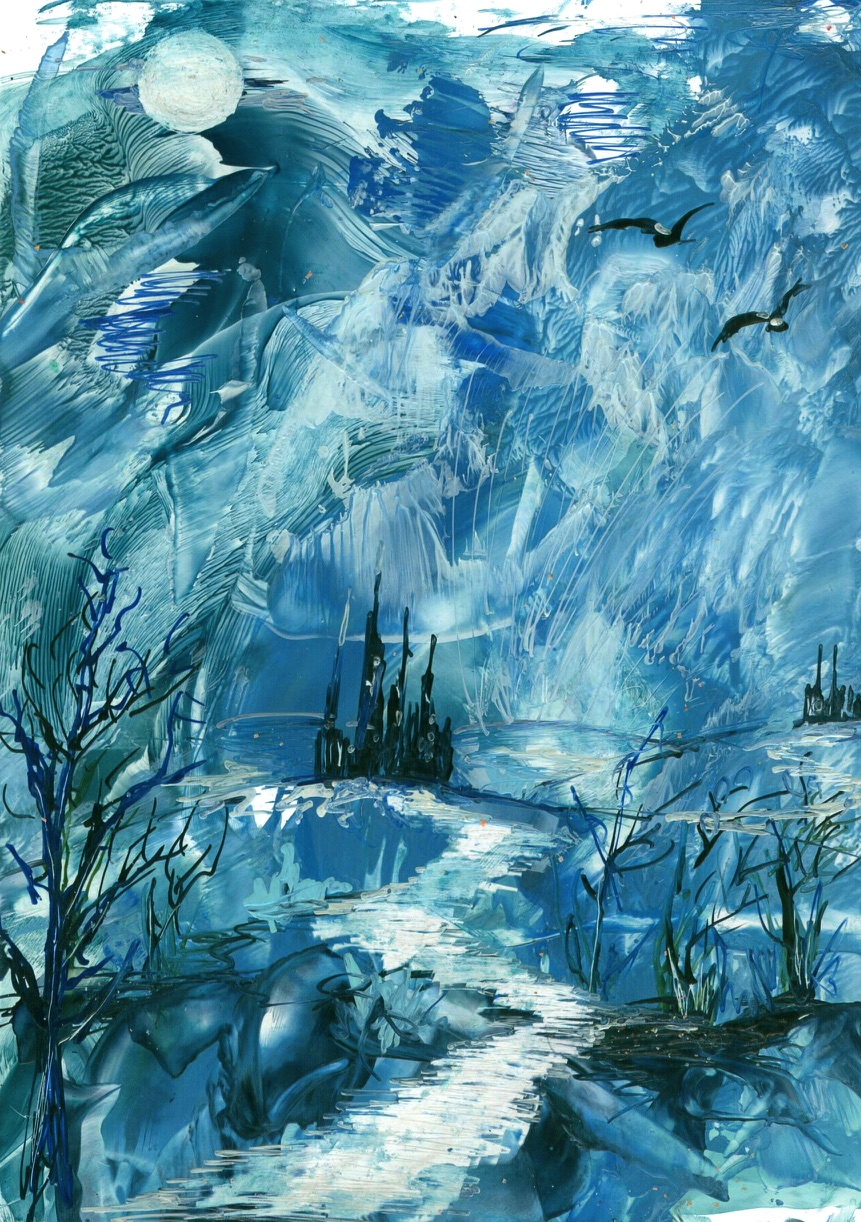 Into The Unknown, Encaustic Wax