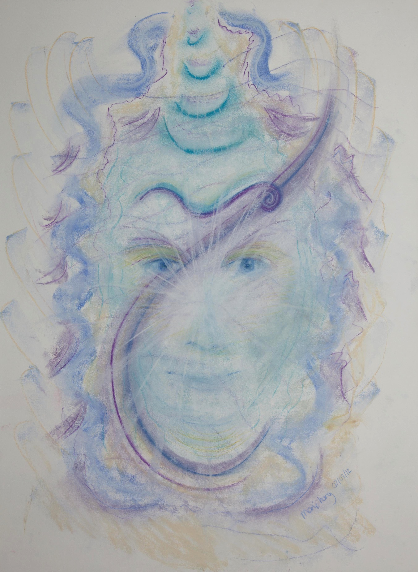 Zadkiel  and the Violet Flame, Pastels
